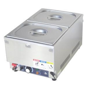 フードウォーマー スープウォーマー 2槽式 業務用 電気 卓上 湯煎式 KCFW-2-1 縦型タイプ|chuuboucenter