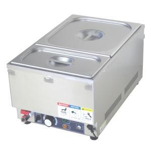 フードウォーマー スープウォーマー 2槽式 業務用 電気 卓上 湯煎式 KCFW-2A-1 縦型タイプ|chuuboucenter
