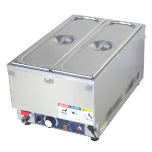 フードウォーマー スープウォーマー 2槽式 業務用 電気 卓上 湯煎式 KCFW-2B-1 縦型タイプ|chuuboucenter