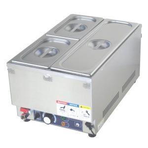 フードウォーマー スープウォーマー 3槽式 業務用 電気 卓上 湯煎式 KCFW-3C-1 縦型タイプ|chuuboucenter