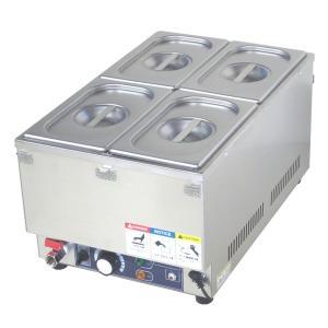 フードウォーマー スープウォーマー 4槽式 業務用 電気 卓上 湯煎式 KCFW-4-1 縦型タイプ|chuuboucenter