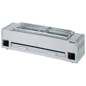 MGK-204B マルゼン ガス下火式焼物器 炭焼き 熱板タイプ 兼用型|chuuboucenter
