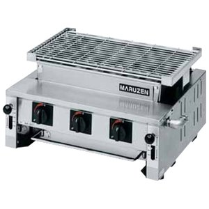 MGK-306B マルゼン ガス下火式焼物器 炭焼き 熱板タイプ 汎用型|chuuboucenter