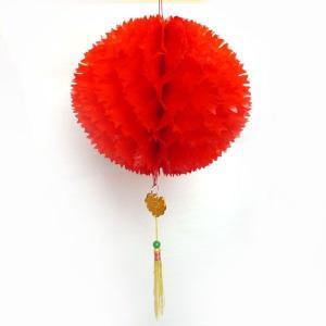 赤い中華玉 25cm 10個セット 【レターパック対応】|chuukanotobira
