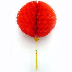 赤い中華玉 30cm 【メール便対応】|chuukanotobira