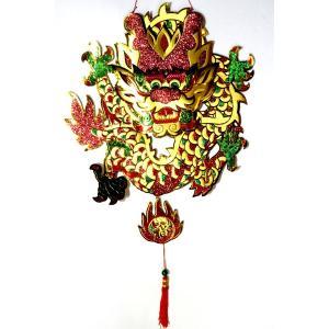 立体円盤ドラゴン飾り φ45cm|chuukanotobira