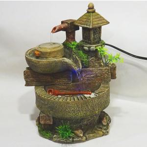 スターライト噴水-山水 臼(ミニ噴水 小型 卓上)|chuukanotobira