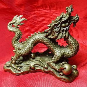 龍の置物(D) (高さ約7.5cm)銅製|chuukanotobira
