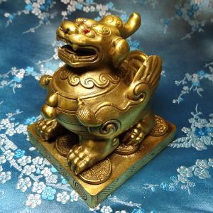 ヒキュウの置物 大(高さ10cm)雄 銅製|chuukanotobira