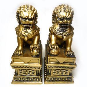 獅子の置物 小(高さ10.8cm)対獅子|chuukanotobira