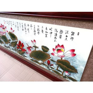 蓮の花のレリーフ 230×80cm|chuukanotobira