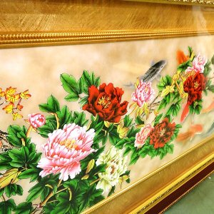 飾り額(ガラス付)富貴有餘 200×95cm|chuukanotobira