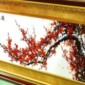 飾り額(ガラス付)報春図 155×68cm|chuukanotobira