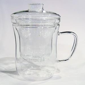 ガラス茶こし付きマグカップ|chuukanotobira