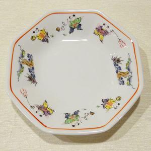 色絵唐子 八角皿 19cm (チャーハン 炒飯皿)|chuukanotobira