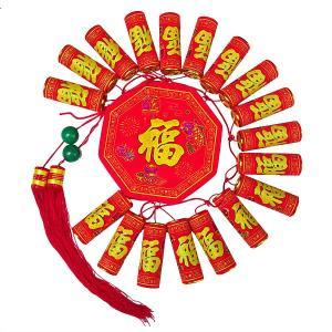 爆竹飾り 特大 直径25cm (春節 飾り 装飾)|chuukanotobira