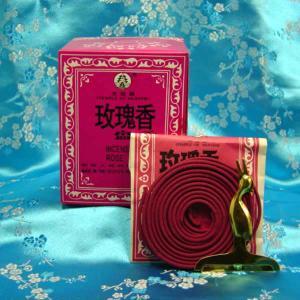 盤香 バラ 渦巻き香 1箱(12袋入)|chuukanotobira