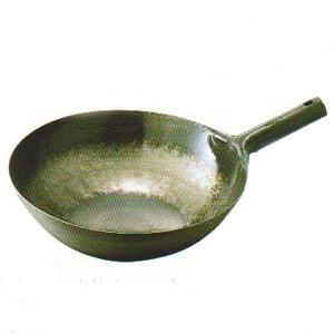 鉄打出片手中華鍋 36cm 板厚1.2mm|chuukanotobira