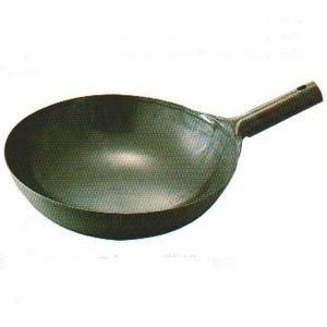 鉄プレス片手中華鍋 33cm 板厚1.2mm|chuukanotobira