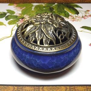 香炉 群青(蓋付き コーン型用 渦巻き型用)|chuukanotobira