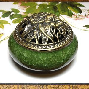 香炉 深緑(蓋付き コーン型用 渦巻き型用)|chuukanotobira