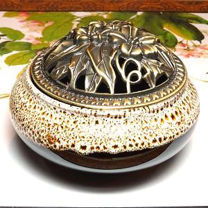 香炉 象牙×黒(蓋付き コーン型用 渦巻き型用)|chuukanotobira