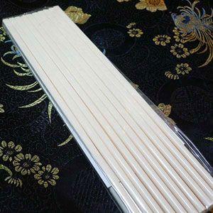 メラミン中華箸 白無地 24cm 10膳入|chuukanotobira