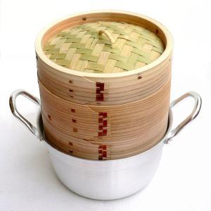 15cm杉セイロアルミ鍋セット 2段 (身2蓋1鍋1)|chuukanotobira