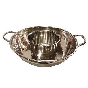 ステンレス 2槽火鍋 30cm(親子鍋)|chuukanotobira