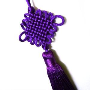 中国結び房 紫色 chuukanotobira