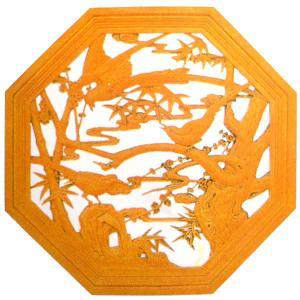 FRP透かし八角壁飾り|chuukanotobira