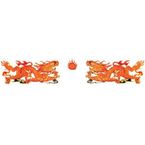 FRP製龍と龍の3点セット|chuukanotobira