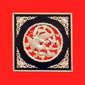 天井板 赤 鳳凰柄    |chuukanotobira