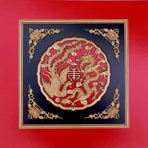 天井板 赤 龍鳳伴寿|chuukanotobira