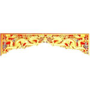 木彫透かし欄間 双龍|chuukanotobira
