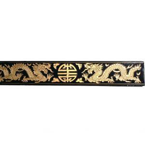 10巾双龍飾り板 黒 180cm|chuukanotobira