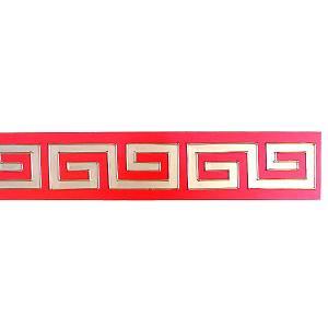 15巾雷雲飾り板 赤 180cm|chuukanotobira