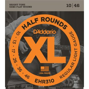 D'Addario EHR310 XL Half Rounds Regular Light エレキギ...