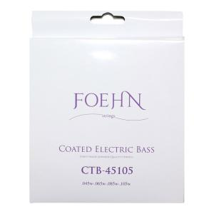 FOEHN CTB-45105 Coated Electric Bass Strings Regular Light Top Medium Bottom コーティングエレキベース弦 45-105|chuya-online