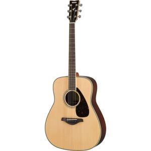 YAMAHA FG830 NT アコースティックギター裏・側板にローズウッドを採用。芯のある明快なサ...