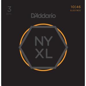 D'Addario NYXL1046-3P Nickel Wound Regular Light エ...