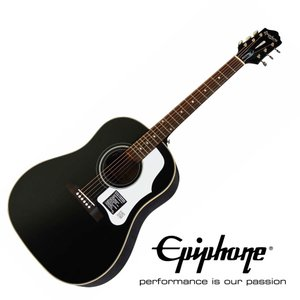 EPIPHONE Masterbilt Series AJ-45ME EBS Ebony Satin J-45スタイル オール単板仕様 アコースティックギター chuya-online