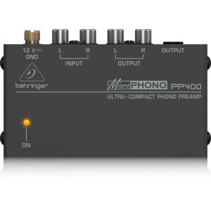 BEHRINGER PP400 MICROPHONO フォノプリアンプ超小型フォノプリアンプ特長レコ...