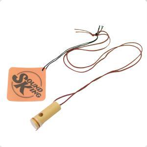 Sound King DA-KAZ1 バンブーカズー竹製の小さなカズー。首にかける紐付き。※紐の色は...