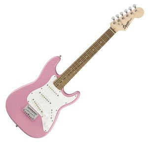 SQUIER(スクワイヤー) Mini Stratocaster (PINK)【 ミニ ストラトキャスター by フェンダー】の商品画像|ナビ