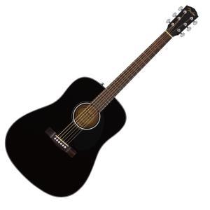 Fender CD-60S Dreadnought Walnut Fingerboard Black...