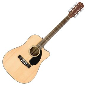 Fender CD-60SCE Dreadnought 12 string WN Natural 1...