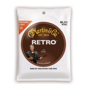 MARTIN MLJ13 Retro Acoustic Monel Nickel Medium Li...