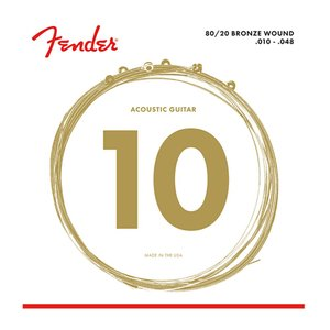 Fender 80/20 Bronze Acoustic Strings Ball End 70XL...