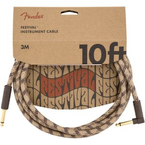 Fender 10' Angled Festival Instrument Cable Pure H...